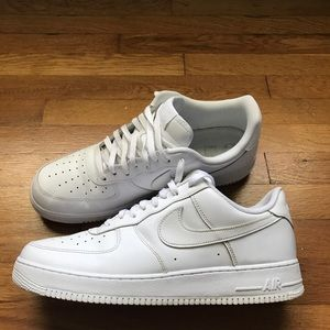 All White Nike Air Force Ones Low Tops